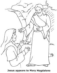 Jesus Appears To Mary Coloring Page