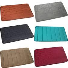details zu badematte 40x60 badteppich 45x75 badvorleger braun beige grau turkis schwarz