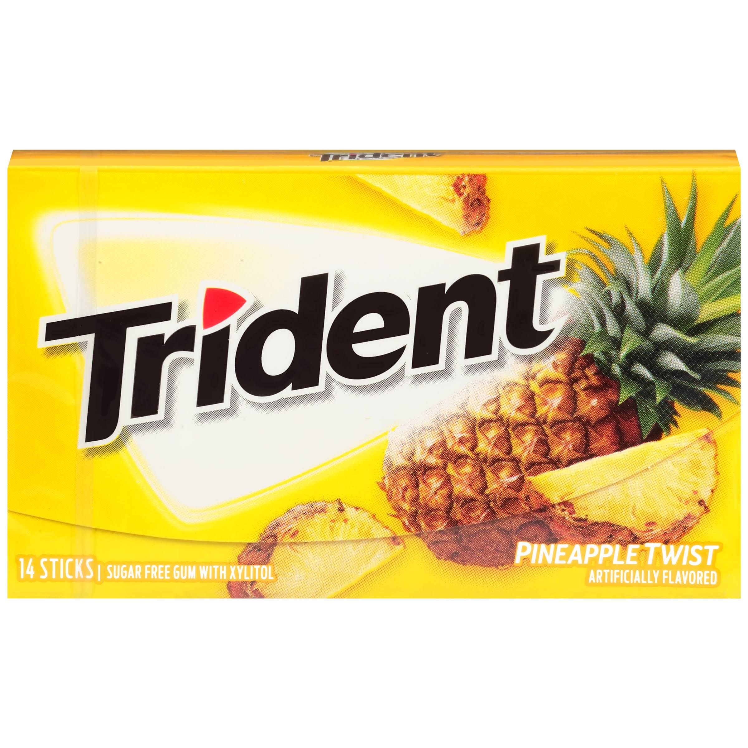 Trident Sugar Free Gum - Pineapple Twist, 14 Sticks, 0.95oz