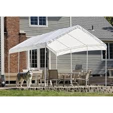10x20 Shed Floor Plans by Shelterlogic Portable Garage Canopy Carport 10 U0027 X 20 U0027 117083