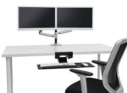 Ergotron Sit Stand Desk by Ergotron Lx Dual Stacking Monitor Arm