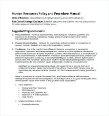 Employee Handbook Template Pdf Policy Manual Free Sample Hr 6 Documents In