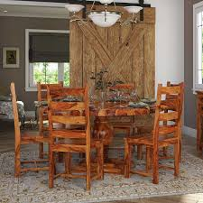 Cloverdale Solid Wood Round Dining Table With 6 Chairs Set The Gray Barn Spring Mount 5piece Round Ding Table Set With Cross Back Chairs Likable Cute Kitchen And Sets Fniture Wish Benchwright Rustic X Base 48 New Small Designknow Excellent Beautiful Room Ideas Rugs Jute For Dinette Tables Square Leahlyn 5piece Cherry Finish By Oak Home And Garden Glamorous Drop Leaf Extraordinary