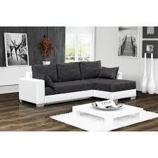 canape d angle 3 place canapé d angle convertible 3 places en simili cuir blanc et tissu