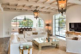 Spanish Colonial Revival Portella Windows And Doors Casement Whitewashed Beams Antique