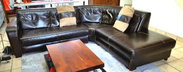 bois et chiffon canapé canapé angle cuir neuf clasf
