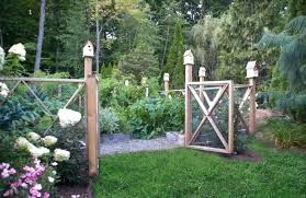 A Rustic Garden Large Size Of Fence Ideas Simple Metal Fencing