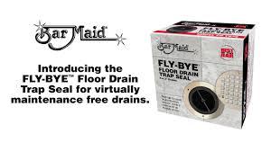 Floor Drain Backflow Device by Bar Maid Fly Bye Floor Drain Trap Seal Youtube
