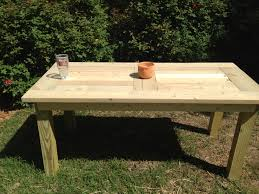 Make Outdoor End Table by Ana White Outdoor Dining Table Diy Projects