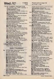 13th Floor Belvedere Menu by Tv Guide Listings For Halloween 1990 Dinosaur Dracula