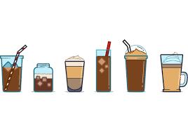 Iced Coffee Clip Art Design Medium Size