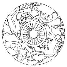 Singing Birds Mandala Coloring Pages