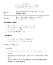 Sample Resume Example Student Good Professional