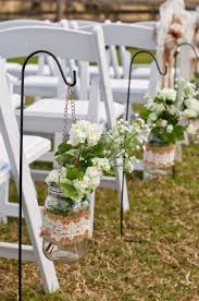 Rustic Burlap Lace Wedding Aisle Ideas