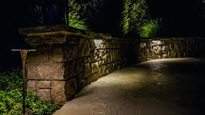 retaining wall lights light and led 6 deck step landscape
