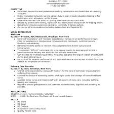 Resume Format For Nurse Nurses Resumes Template Aide Examples Graduate And Cover Letter Nursing