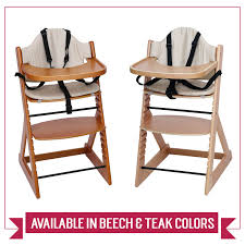 100 Wooden High Chair With Removable Tray Baby 3in1 Chair With And Bar Beech