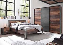 michel schlafzimmer komplettset 1 kleiderschrank bettanlage style dunkel betonoxid