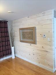 Accent Wall Made With Shiplap Pine And A Whitewash Finish