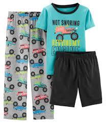 100 Monster Truck Pajamas 3Piece Poly PJs