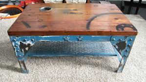 Industrial Coffee Table Mahoney Metal