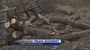 100 Logging Truck Accident Log Truck Goes Over Hill On Route 97 Near Maben