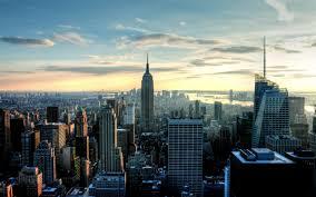 New York City Manhattan Bridge Clear Sky River HD Wallpaper Cool