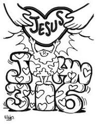 John 316 Valentine Coloring Pages