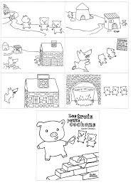 Coloriage 3 Petit Cochon Imprimer Demang