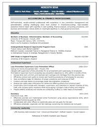 Accounting Resume Samples Examples Of Resumes