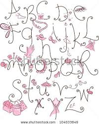 Girly Alphabet Stock Royalty Free & Vectors
