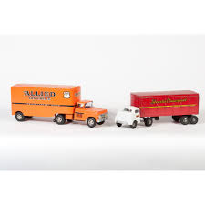 Tonka And Structo Pressed Steel Transport Trucks | Cowan's Auction ... 1950s Structo Hydraulic Toy Dump Truck Vintage Light 992 Lot 569 Toys No7 City Of Toyland Pressed Steel Utility Farm White Colored Hard Plastic Lamb Accessory Corvantics Corvair95 Vintage Structo Toys Pressed Steel Truck And Trailer Model Antique Toy Livestock Vintage Metal Toy Wrecker Truck Oilgas Red Good Hilift High Lift Lever Action Blue And Yellow 1967 Turbine 331 Auto Transporter Wcars Ramp Colctibles Signs Gas Oil Soda