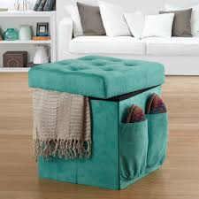 Bed Bath And Beyond Decorative Wall Clocks by Anthology Sit U0026 Store Folding Ottoman In Tufted Aqua Bed Bath