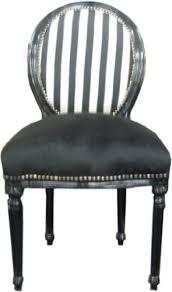barock esszimmer stuhl schwarz streifen ludwig xiv stuhl
