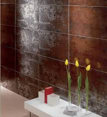 glazed porcelain tiles titanio by mallol the metallic reflection