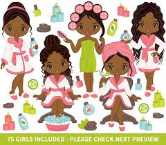 75 Spa Girls Clipart