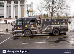 A Firetruck Painted In Black Is Pictured In Montreal Stock Photo ...