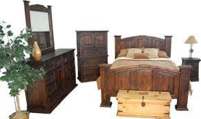 02 1 20 50 Dark Mansion Rustic Bedroom Set