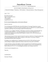 Investment Banking Associate Cover Letter Resume Template Samples Free