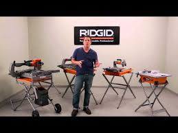 8 in wet tile and paver saw ridgid professional tools