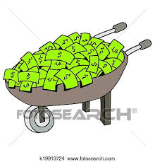 Clipart Money Wheelbarrow Fotosearch Search Clip Art Illustration Murals Drawings and