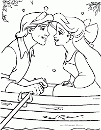 100 Ideas Printable Coloring Pages The Little Mermaid On Within Disney