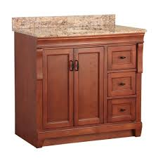 Bathroom Sink Tops At Home Depot by Foremost Naples 37 In W X 22 In D Bath Vanity With Right Drawers