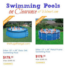Swimming Pools And Accessories Are On Rollback At Walmart