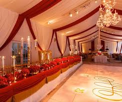 White Gold And Red Wedding Decorations Theme Ideas For
