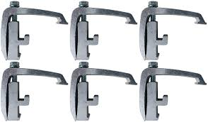 100 Truck Cap Clamps 6 Pack Silver Toyota Tacoma Nissan Titan Mounting Channel Track