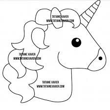Unicorn Template Флис Pinterest Unicorn Crafts Unicorn Emoji