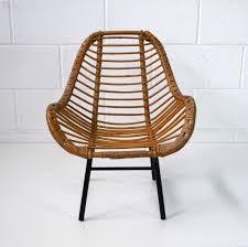 siege en rotin fauteuil enfant rotin 1960 la marelle mobilier et déco vintage
