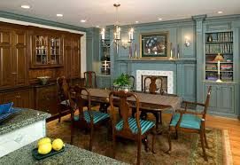 Traditional Cherry Cabinetry With For A Dining Room Connected To Kitchen