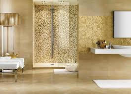 badezimmer mosaik gold